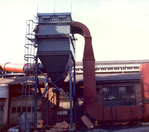 Jet Aire dust collector collecting lead and lead oxide