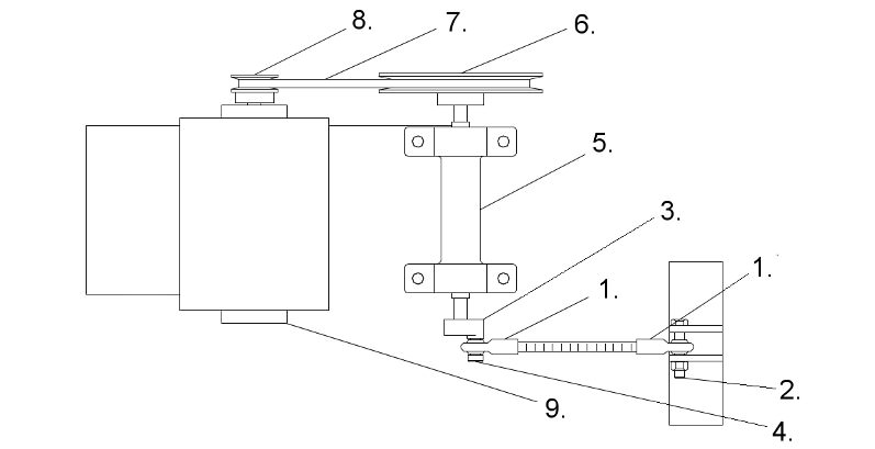 Diagram of Silo Filter Vent Drive Train