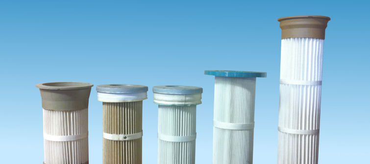 Pleated Elements and Cartridges for Dust Collectors