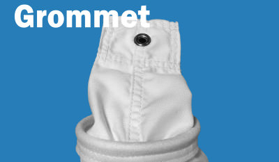 Grommet Top of Shaker Style Filter Bag