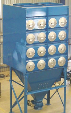 Horizontal cartridge dust collector for pharma industry