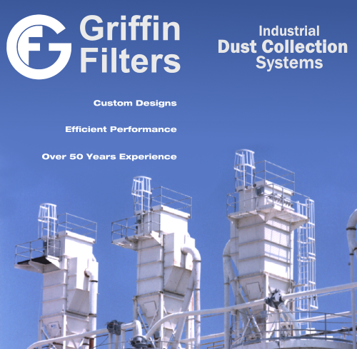 Griffin Filters Ad showing three baghouses in a row